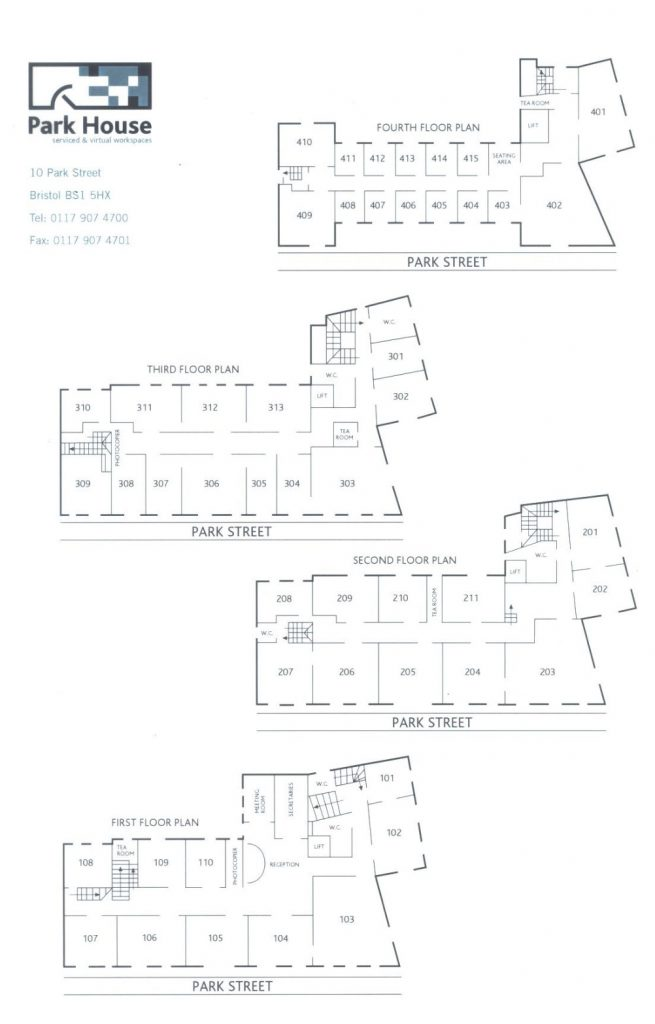 Floor Plan Park House Bristol